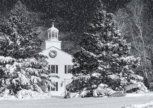 Town Hall Of Wellfleet In Winter by Dapixara