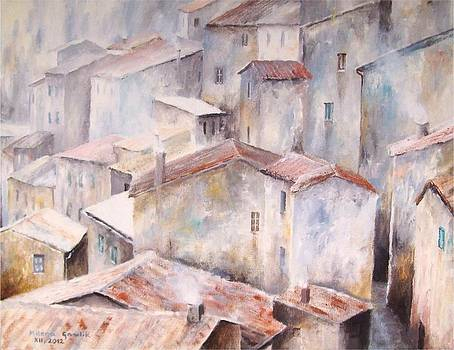 Town of Red Roofs by Milena Gawlik