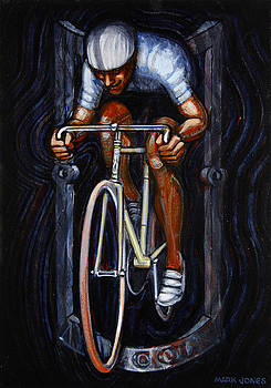 Track Racer Malcolm Cycles 1 by Mark Howard Jones