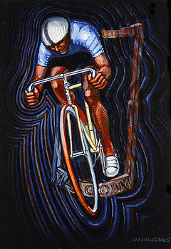 Track Racer Malcolm Cycles by Mark Howard Jones