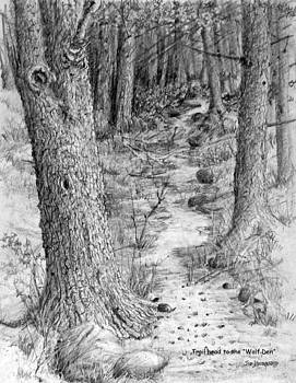 Jim Hubbard - Trailhead to the Wolf Den  triptych I