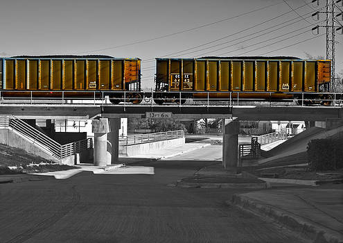 Train Cars-Selective Color by Matthew Miller