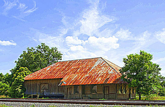 Train Station in the middle of no where by Danny Jones