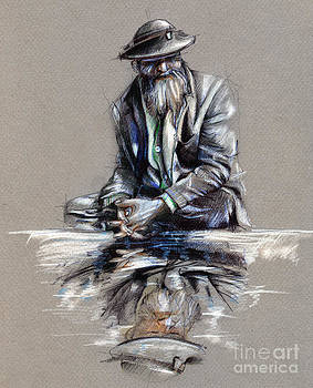 Transcendental Meditation - drawing by Daliana Pacuraru