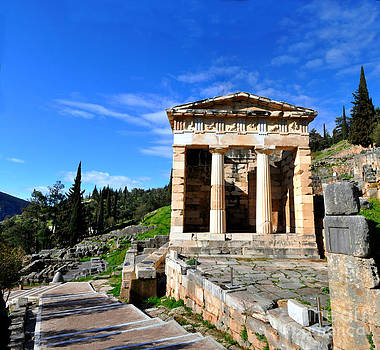 Treasury of Athens at Delphi by Eric Liller