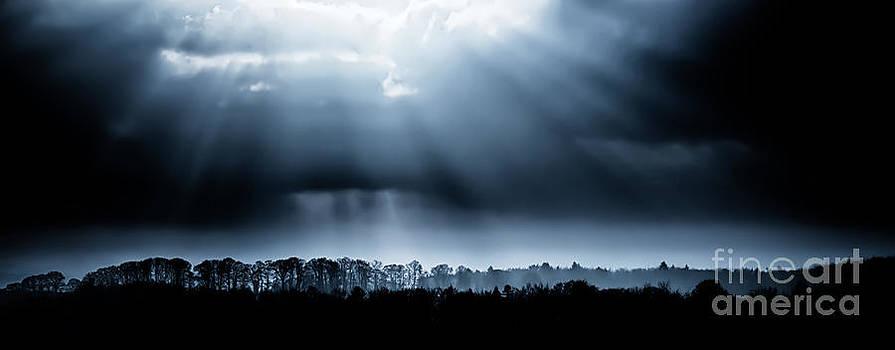 Simon Bratt Photography LRPS - Tree lined landscape with sunrays