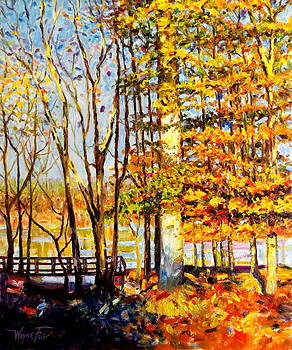 Tree On Fire by Wayne Fair