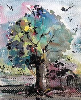 Tree Painting by Hashim Khan
