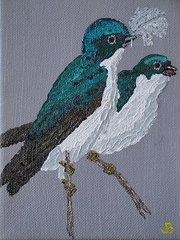 Tree Swallows by Jeannette Brown
