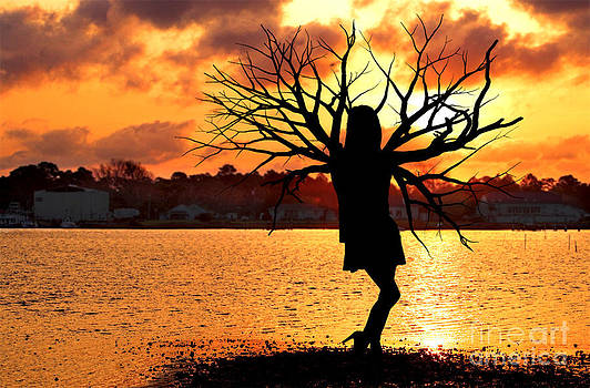 Tree Woman at the Ocean by Rob Byron