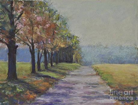 Treelined Road by Joyce A Guariglia