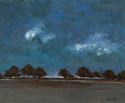 Trees in a Row by John Wyckoff