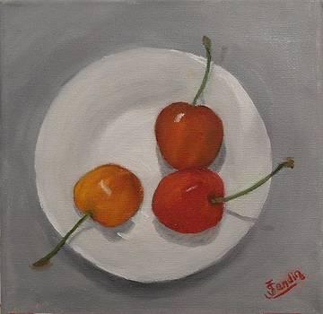 Tres cerezas by Juan Sandin