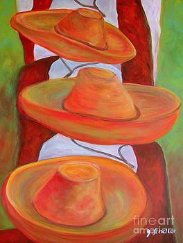Tres Sombreros by Jodie  Scheller