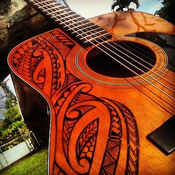 Tribal guitar by Shane Andreas
