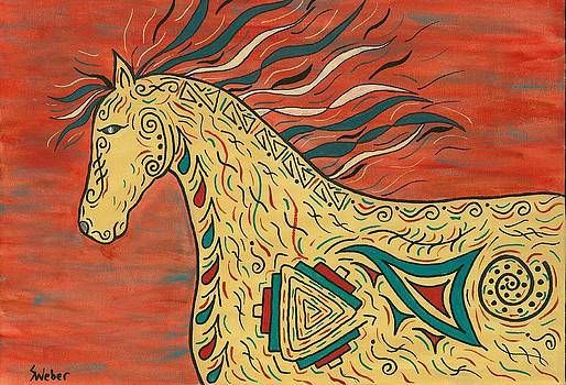 Tribal Spirit Horse by Susie WEBER