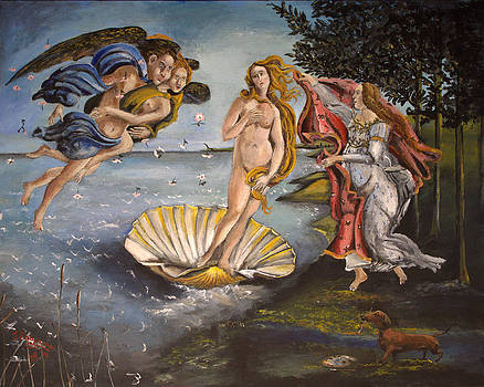Tribute to Birth of Venus by Julia Robinson