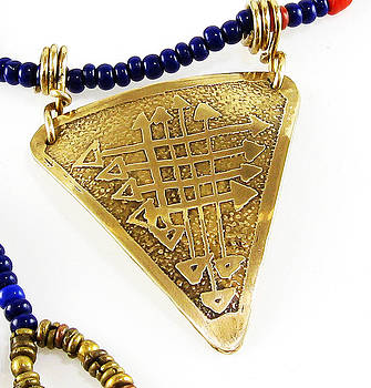 Trilogy Life's Path Amulet - Beaded Necklace by Virginia Vivier
