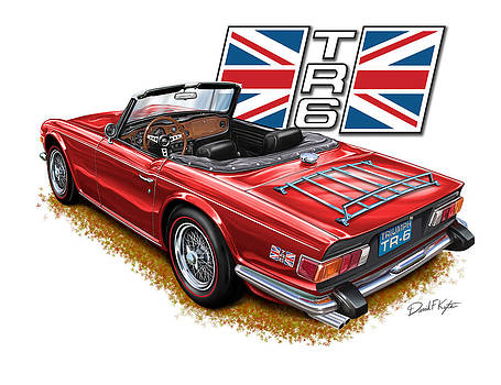 Triumph TR-6 Red wire wheels by David Kyte