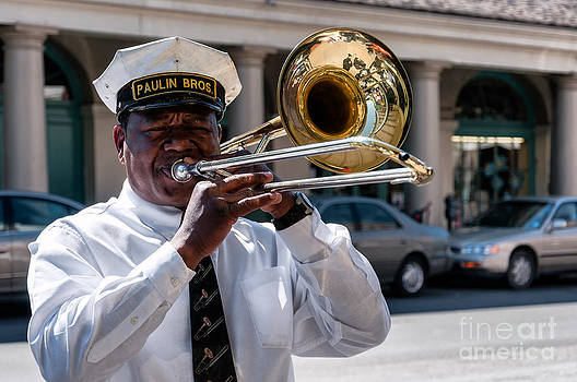 Kathleen K Parker - Trombone Player in French Quarter