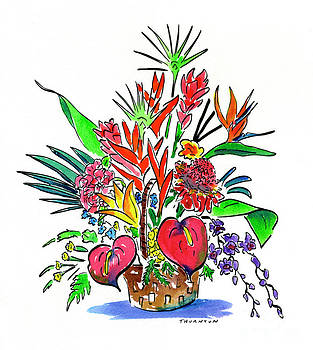 Tropical Basket by Diane Thornton