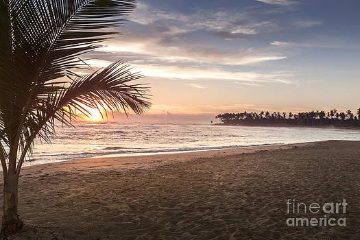 Tropical Beach Sunrise in Punta Cana Dominican Republic by Brandon Alms