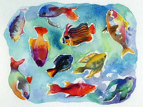 Tropical Fishes by Lydia Irving