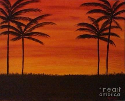 Tropical Sunset I by Krystal Jost