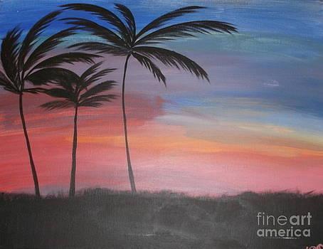Tropical Sunset II by Krystal Jost