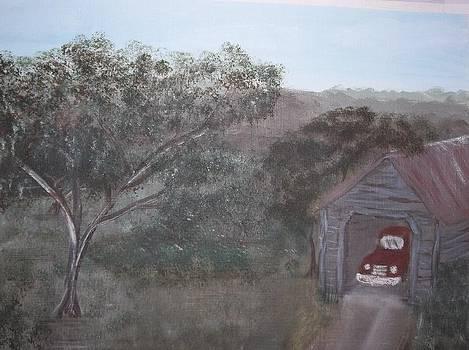 Truck in Barn by Michelle Treanor