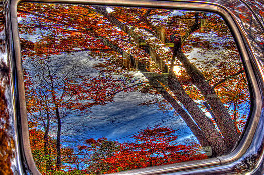 Truck window reflection 02 by Andy Lawless