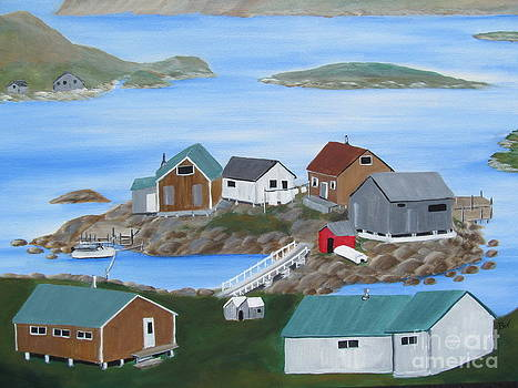 Tub Harbour Labrador Newfoundland by Beverly Livingstone
