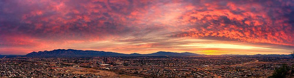 Tucson from A Hill Panorama at Dawn by Kayta Kobayashi