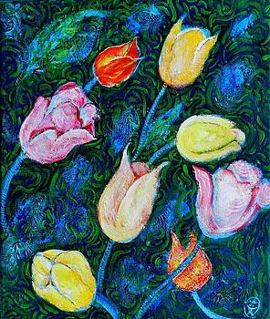 Ion vincent DAnu - Tulips a bit in Van Gogh style
