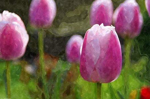 Mick Anderson - Tulips in Digital Watercolor