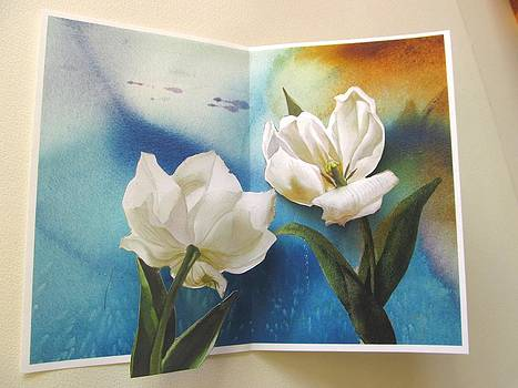 Alfred Ng - tulips pop up card