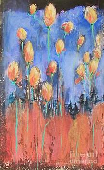 Tulips Under Spring's Full Moon by Beth Fischer