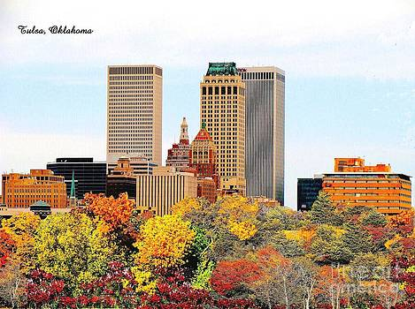 Tulsa Oklahoma in Autumn by Janette Boyd