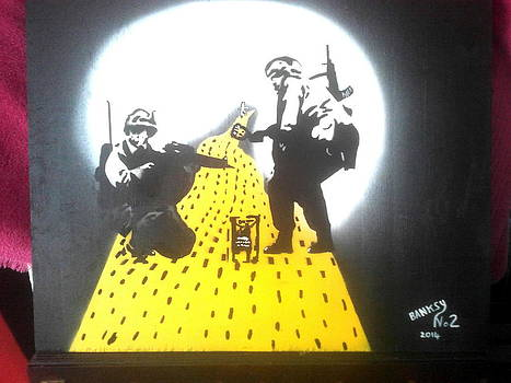 Turf Wars Banksy Is On The Yellow Brick Road by MERLIN Vernon