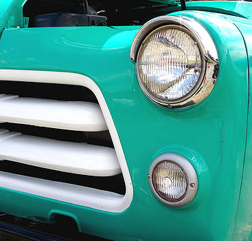 Turqoise Dodge Pick Up Truck by Sarah Egan