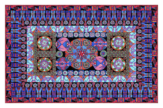 Turqoise Tapestry by Lawrence Chvotzkin