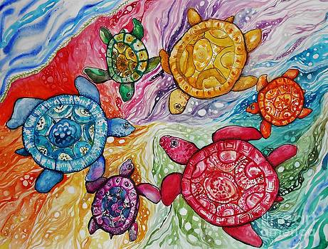 Turtles Color Wheel by Emily Michaud