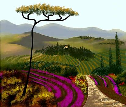 Tuscan Countryside by Larry Cirigliano