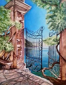 Tuscan gate by Kim McWhinnie
