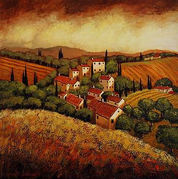 Tuscan Village by Santo De Vita