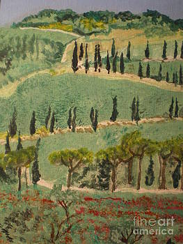 Tuscany landscape by Ann Fellows