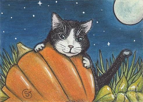 Tuxedo Cat -- It's Mine... All Mine by Sherry Goeben