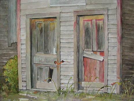 Twin Doors by Mary Ellen  Mueller Legault