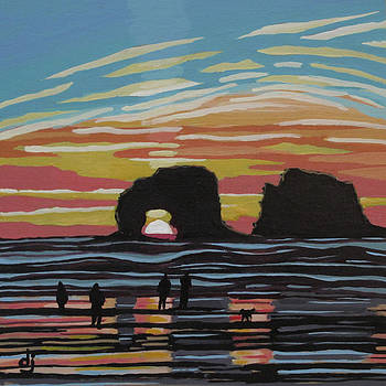 Twin Rock Sunset by Dorothy Jenson