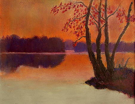 Twlight On the Lake by Kent Whitaker